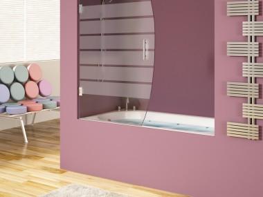 Mampara Baño Diseño Abatible Minta