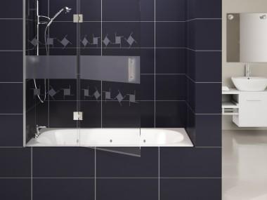 Mampara Baño Diseño Abatible Aure