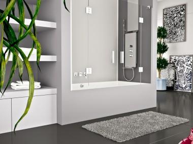 Mampara Baño Diseño Abatible Feres