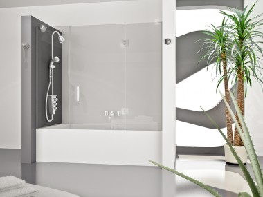 Mampara Baño Diseño Abatible Helio