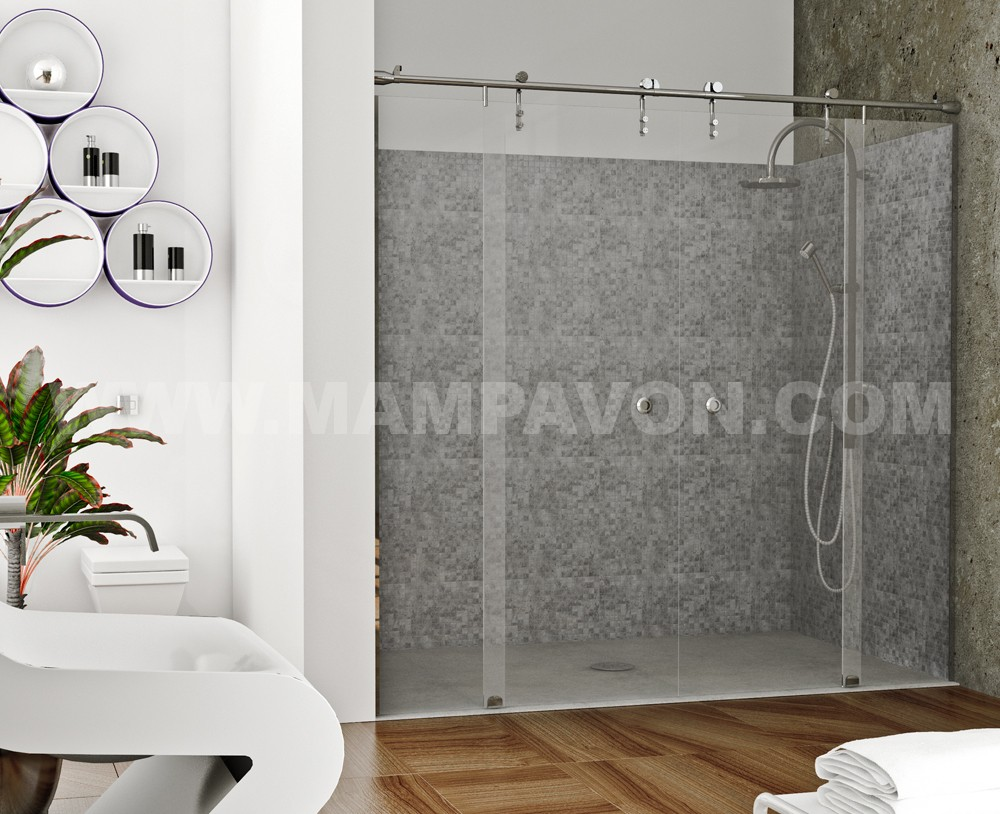 Mamparas de ducha de diseño suspendidas Sevilla