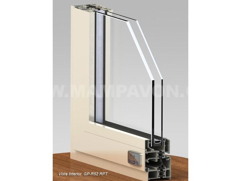 ventana abatible aluminio sistema europeo rotura gp r52